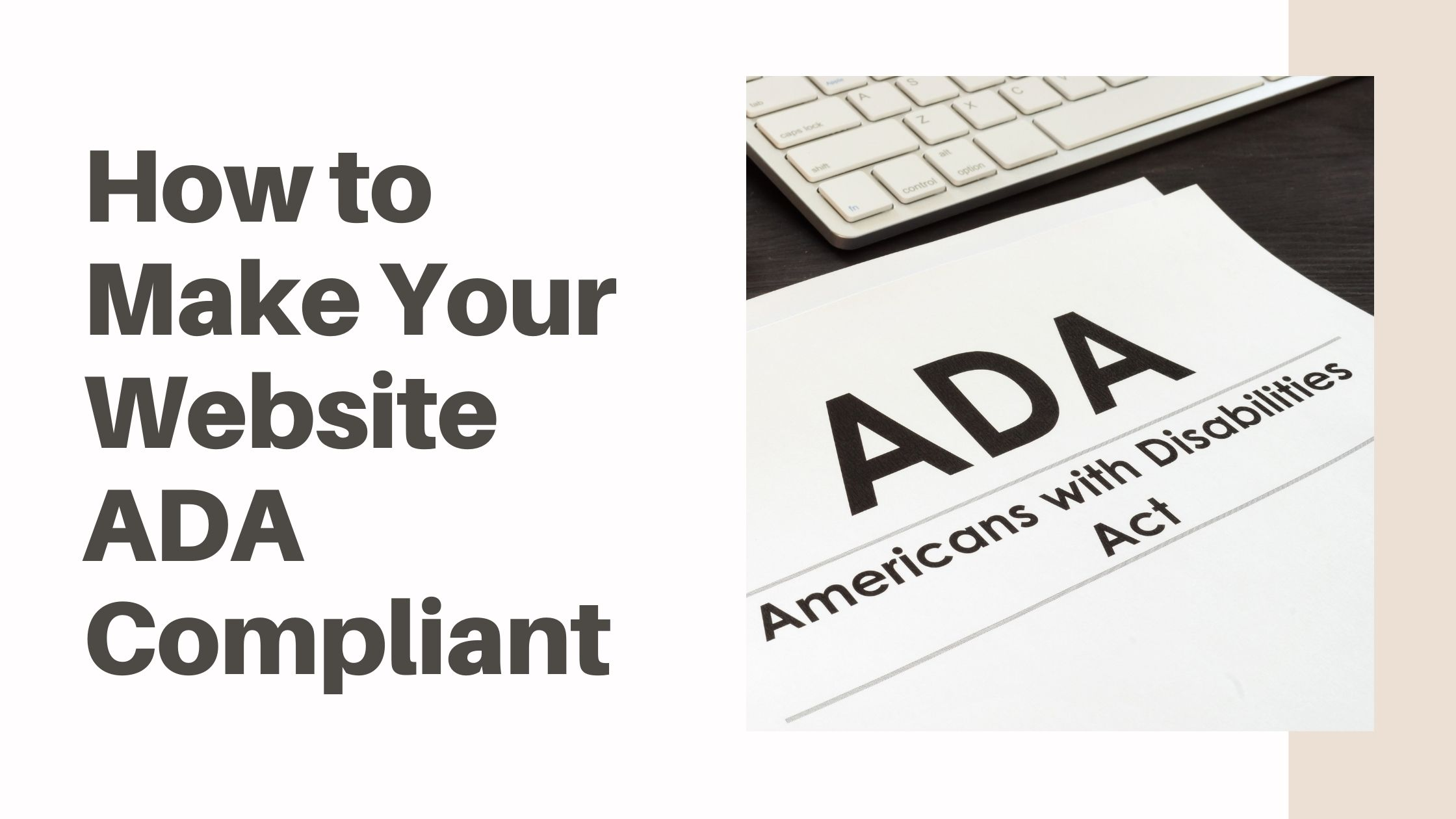 How to Make Your Website ADA Compliant